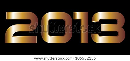 golden year 2013 - stock vector