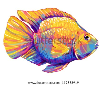 goldfish - stock vector