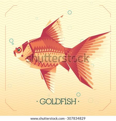 Goldfish. Geometric abstract illustration. - stock vector