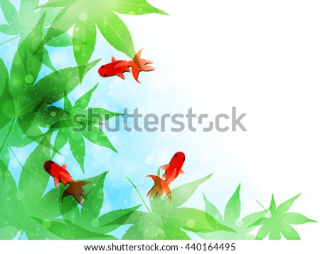 Goldfish maple landscape background