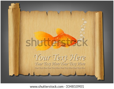 Goldfish on an old scroll