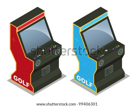 Golf Arcade machine - stock vector