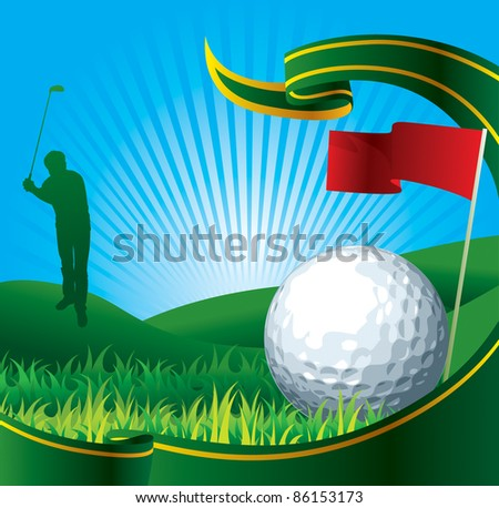 golf background - stock vector
