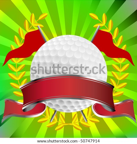 Golf background with starburst - stock vector