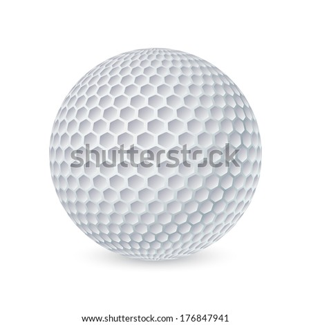 Golf ball  - stock vector