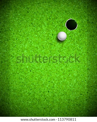 Golf ball and hole. Eps 10