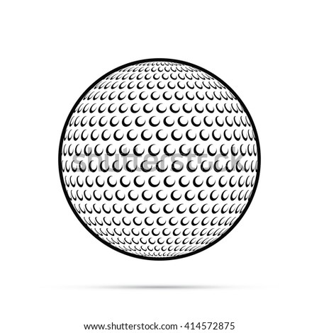 Golf Ball Icon - stock vector