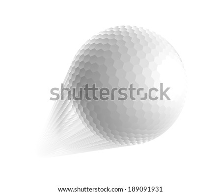 Golf ball is flying in the air. Vector illustration - stock vector