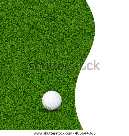 golf ball on a green lawn