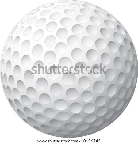Golf ball realized in vector illustration - stock vector