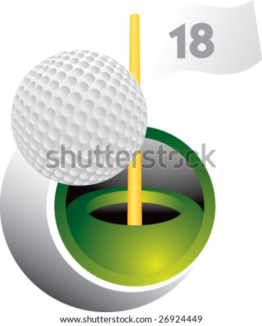 golf ball swoosh - stock vector