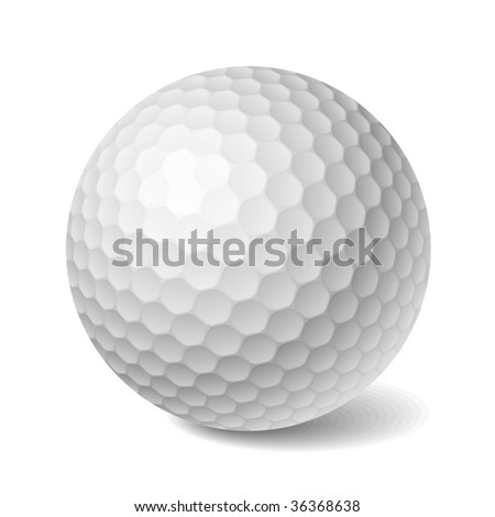 Golf ball. Vector. - stock vector