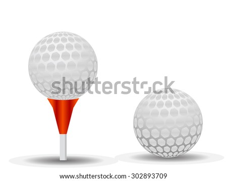 golf ball with pattern vector object illustration  - stock vector