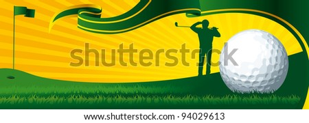 golf banner - stock vector