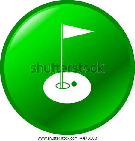 golf button - stock vector