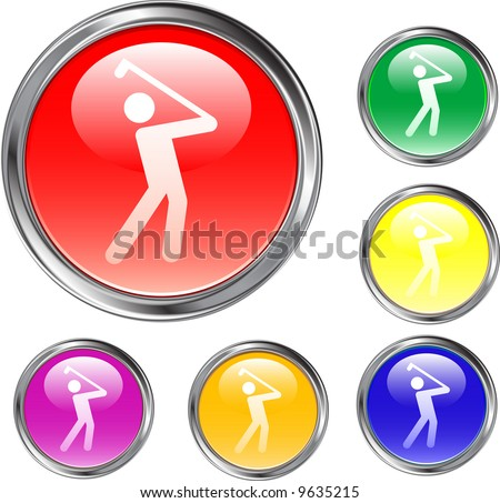 Golf Buttons - stock vector