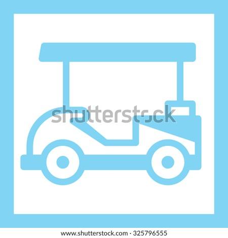 Golf car - stock vector