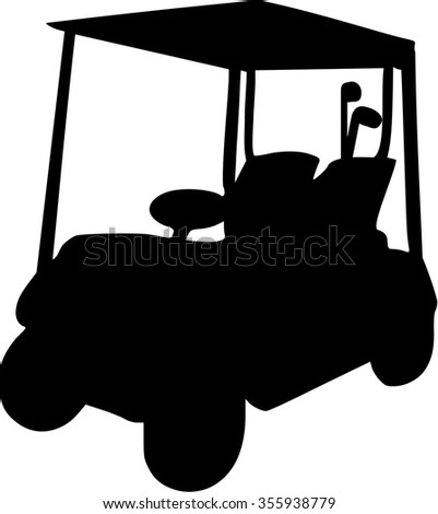 Golf Cart  - stock vector