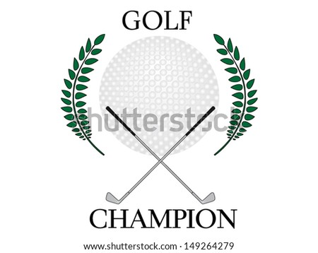 Golf Champion 2 - stock vector