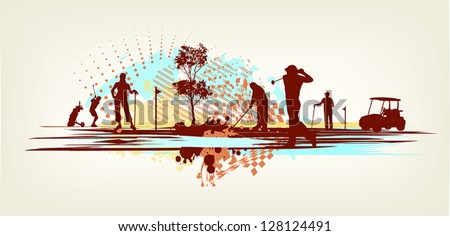 golf club background - stock vector