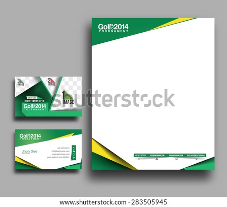 Golf Club Corporate Identity Template.  - stock vector