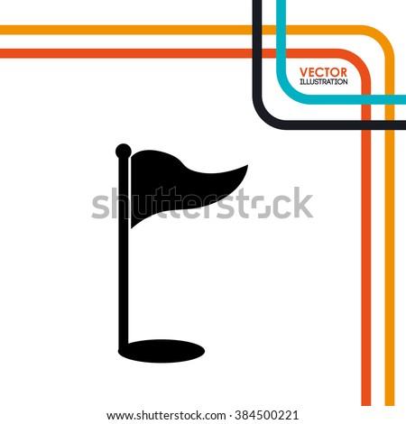 golf club design  - stock vector
