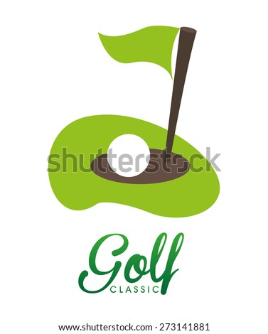 golf club design, vector illustration eps10 graphic  - stock vector