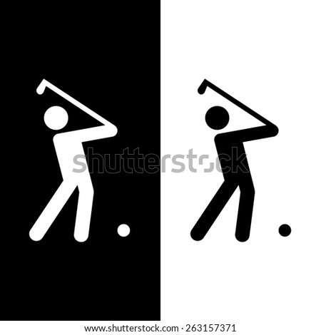 golf club icons set great for any use. Vector EPS10. - stock vector