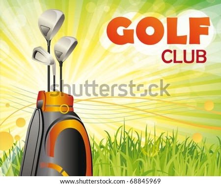 golf club poster - stock vector