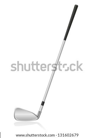 golf club vector illustration isolated on white background - stock vector