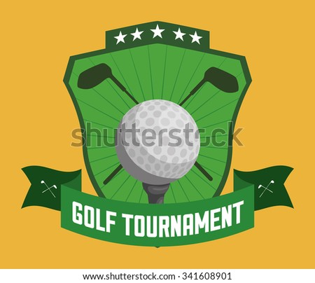 Golf concept with sport icons design, vector illustration 10 eps graphic
