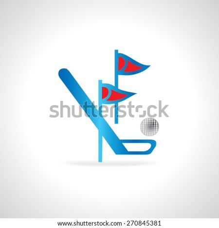golf course concept vector illustration  - stock vector