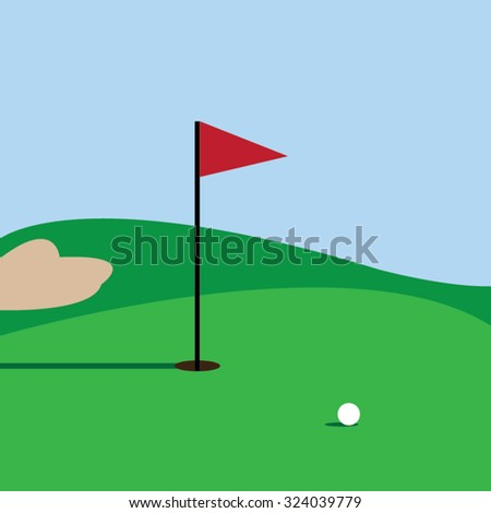 Golf course -vector - stock vector