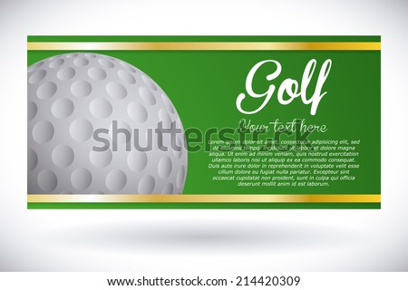 golf design over gray background vector illustration - stock vector