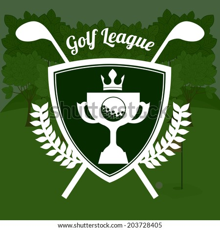 Golf design over green background, vector illustration