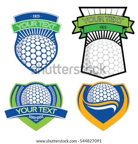 Golf emblems on isolated background