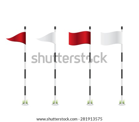 Golf flag illustration - stock vector