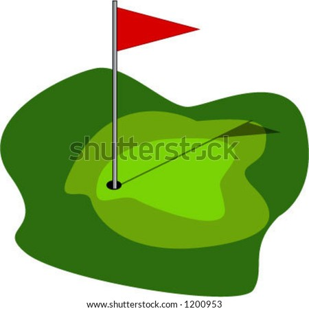 golf green - vector - stock vector