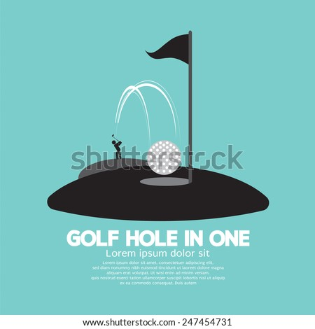 Golf Hole in One Sport Symbol Vector Illustration - stock vector