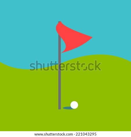 golf icon - stock vector