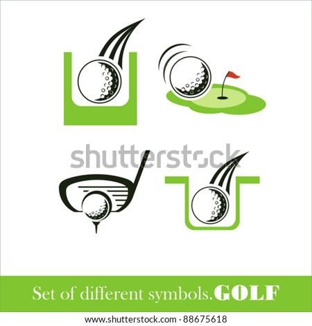 Golf icon. vector symbol - stock vector