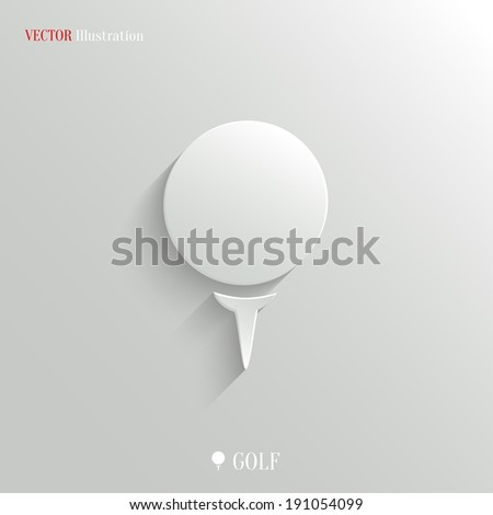 Golf icon - vector web illustration, easy paste to any background - stock vector
