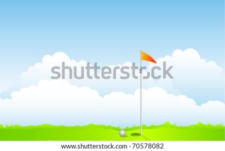golf illustration - stock vector