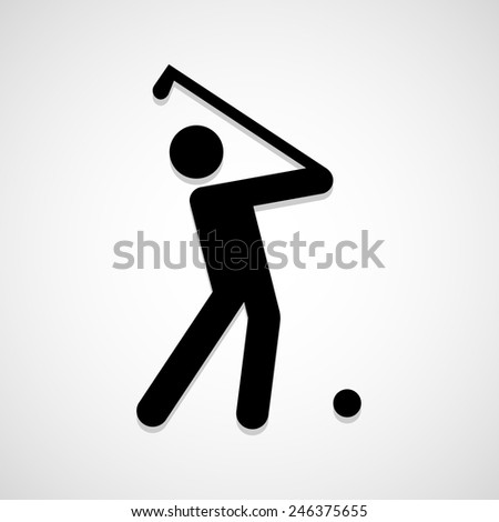 Golf players icon great for any use. Vector EPS10. - stock vector