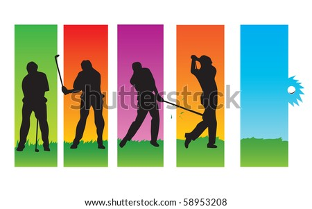 Golf Sequences - stock vector