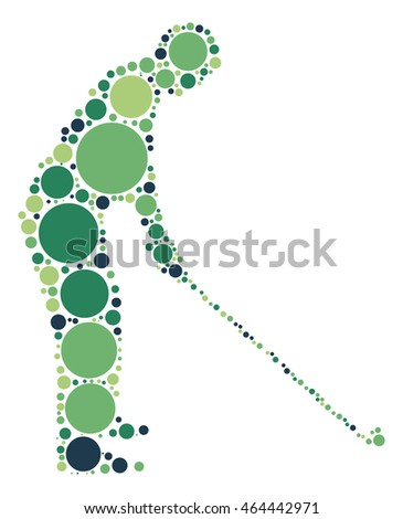 golf shape vector design by color point