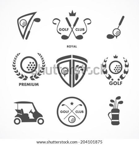 Golf sign and symbols - stock vector