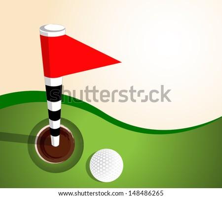 golf sport vector - stock vector