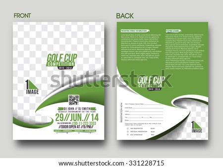 Vector Golf Tournament Brochure Flyer Magazine Stock Vector