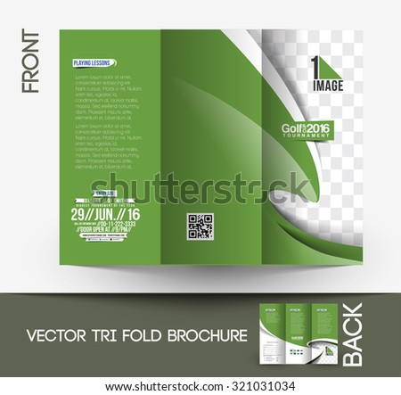 Golf Tournament Trifold Mock Brochure Design Stock Photo Photo